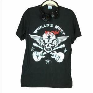 World's most rockin'n dad tee young men M